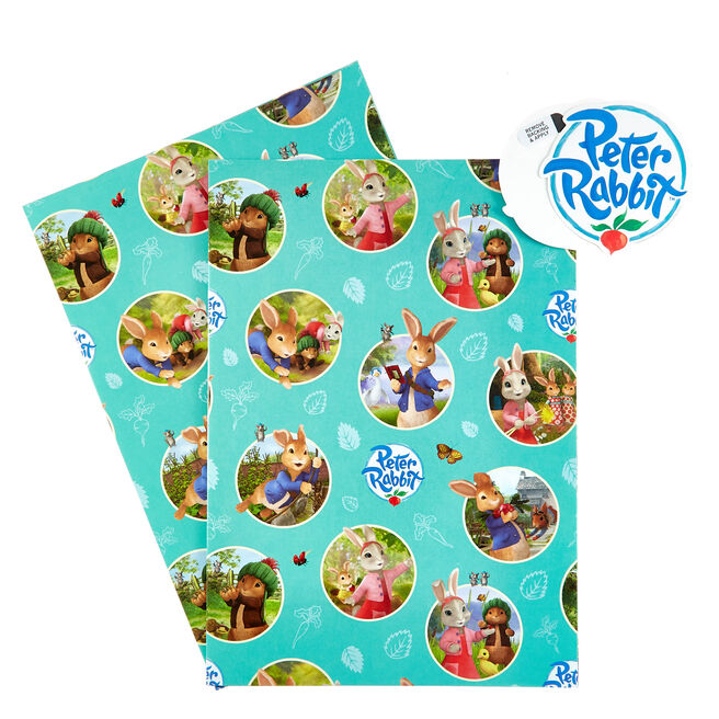 Peter Rabbit Wrapping Paper & Gift Tags - Pack Of 2