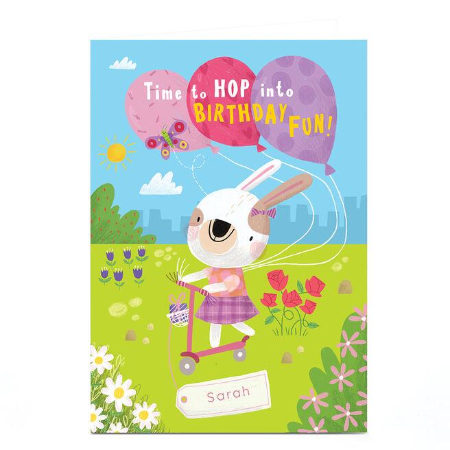 Personalised Jordan Wray Birthday Card - Hop Into Fun
