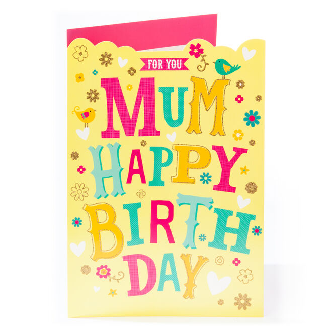 Giant Birthday Card - For You Mum