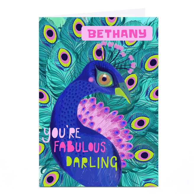 Personalised Bev Hopwood Card - You're Fabulous Darling