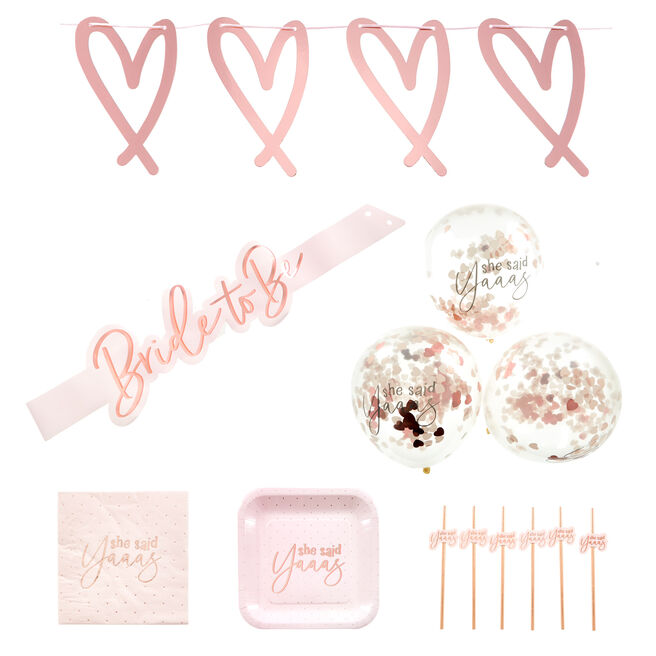 She Said  Yaaas Hen Party Tableware & Decorations Bundle - 67 Pieces