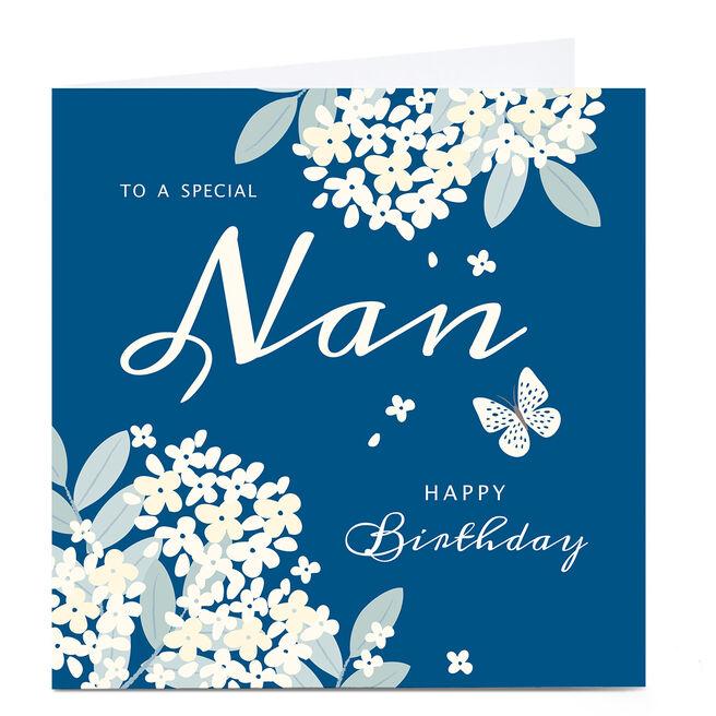 Personalised Klara Hawkins Card - Nan Floral