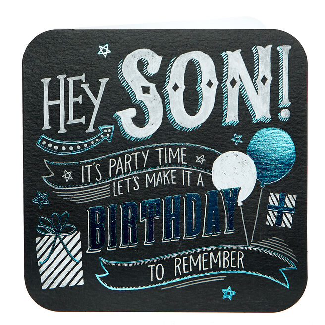 Birthday Card - Son It's Party Time
