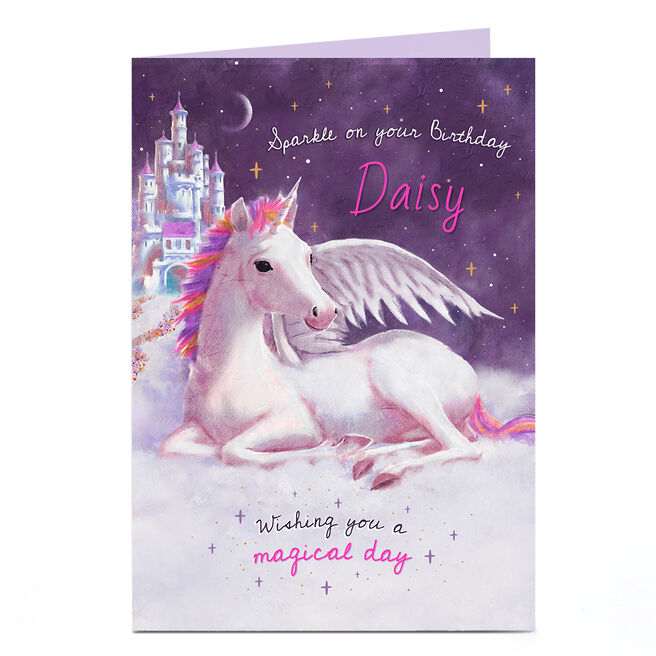 Personalised Birthday Card - Winged Unicorn