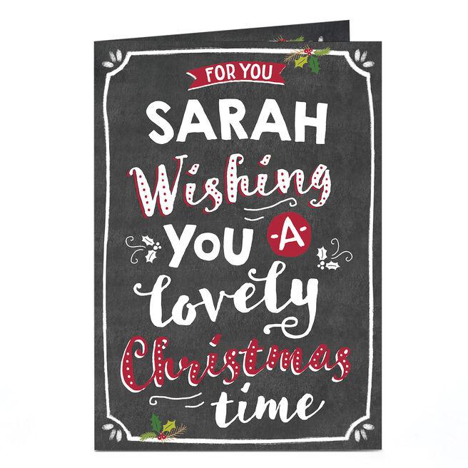Personalised Christmas Card - Blackboard