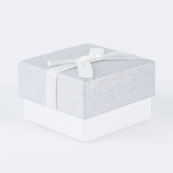 Silver Square Jewellery Gift Box, Small