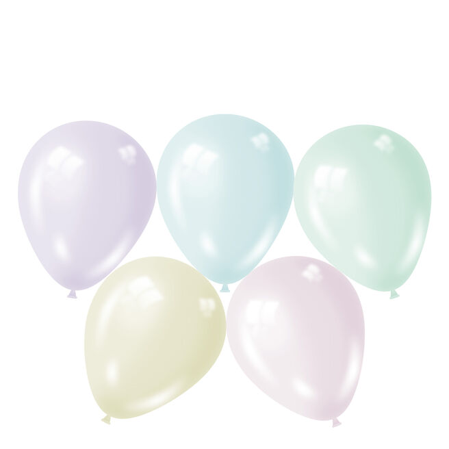 Assorted Macaroon Latex Balloons - Pack Of 50