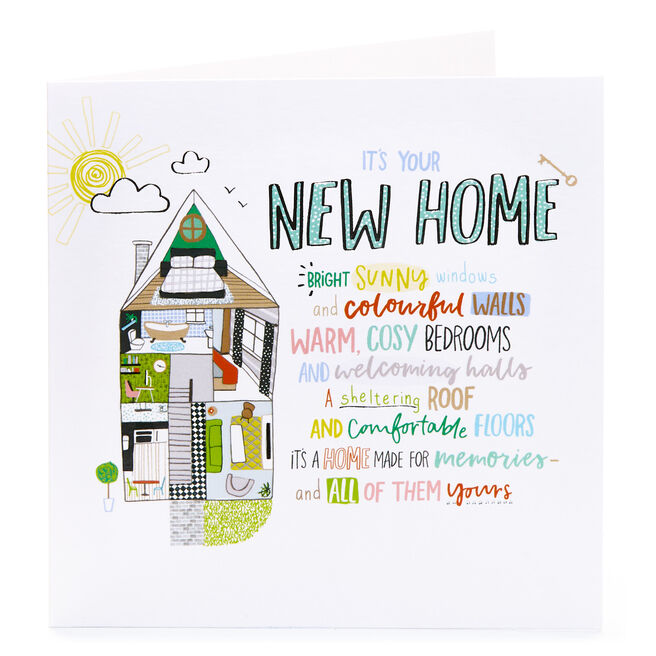 New Home Card - Bright Sunny Windows