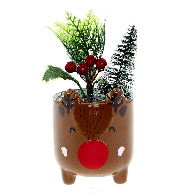 Reindeer Christmas Planter