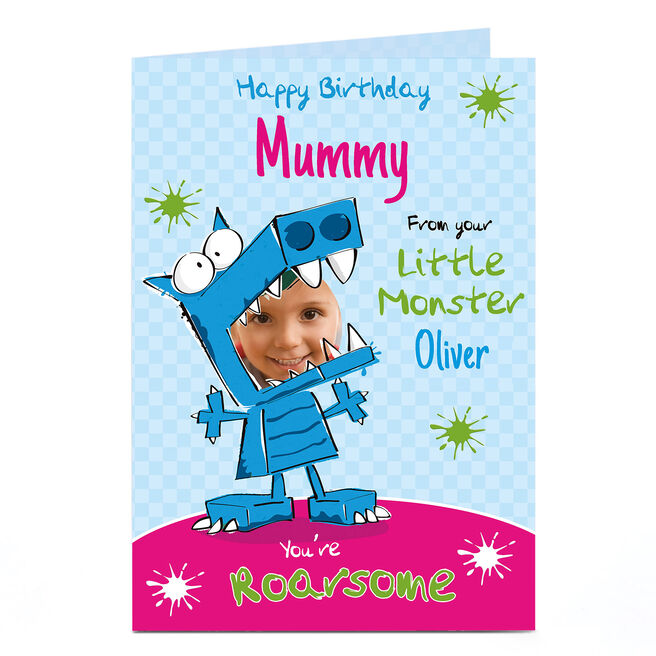 Photo Birthday Card - From your Little Monster