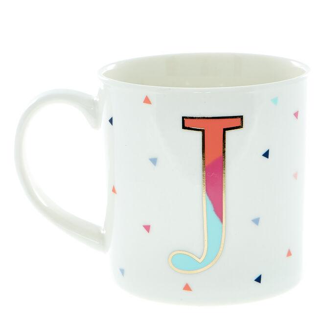 Letter J Alphabet Mug