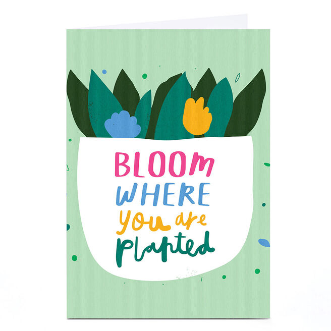 Personalised Whale & Bird Card - Bloom Where You Are Planted