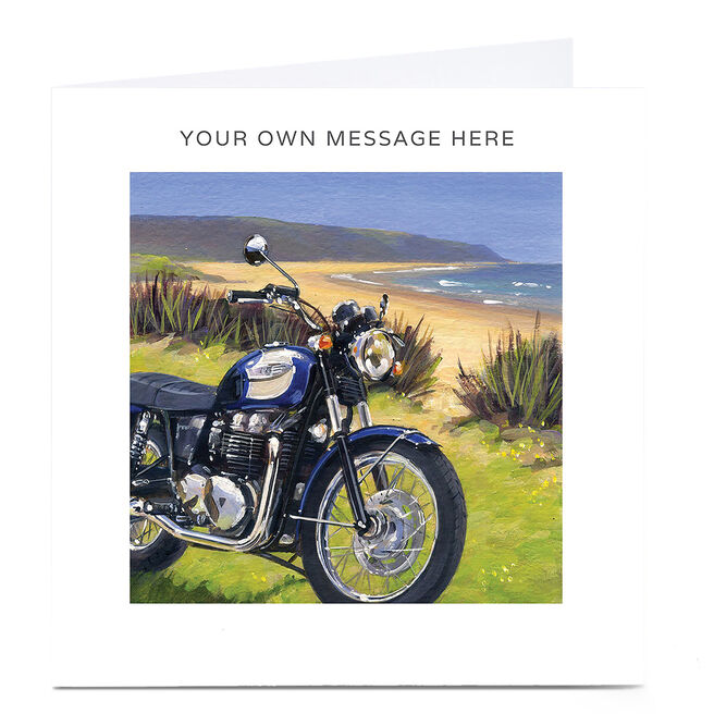 Personalised Card - Motorbike By The Sea