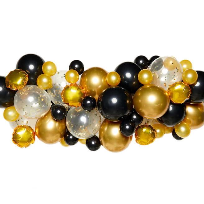 DIY Balloon Garland Kit - Black & Gold