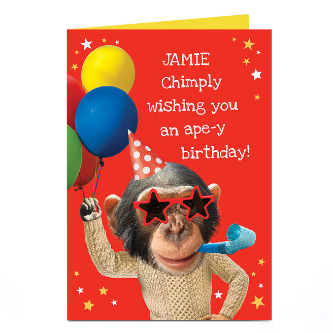 Personalised Heritage Wild Birthday Card - Ape-y Birthday!