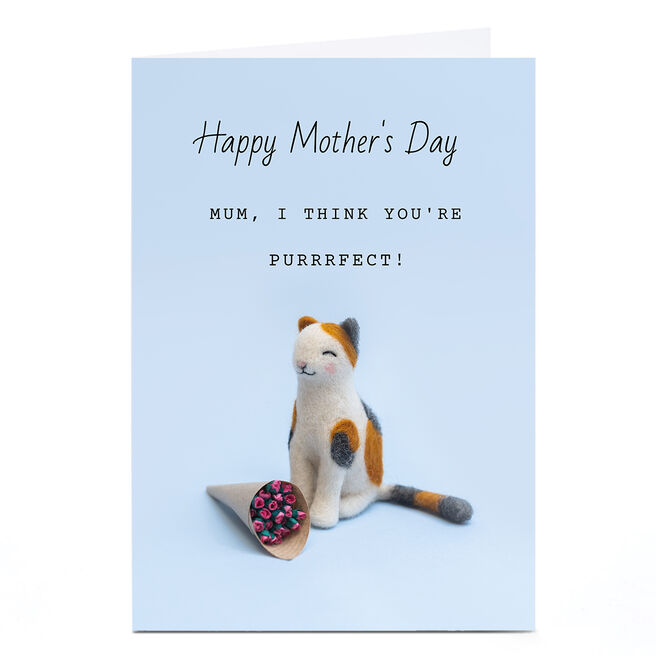 Personalised Lemon & Sugar Mother's Day Card - Purrrfect