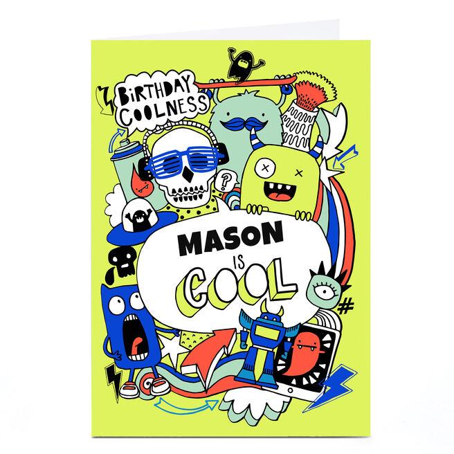 Personalised Bev Hopwood Birthday Card - Monster Madness