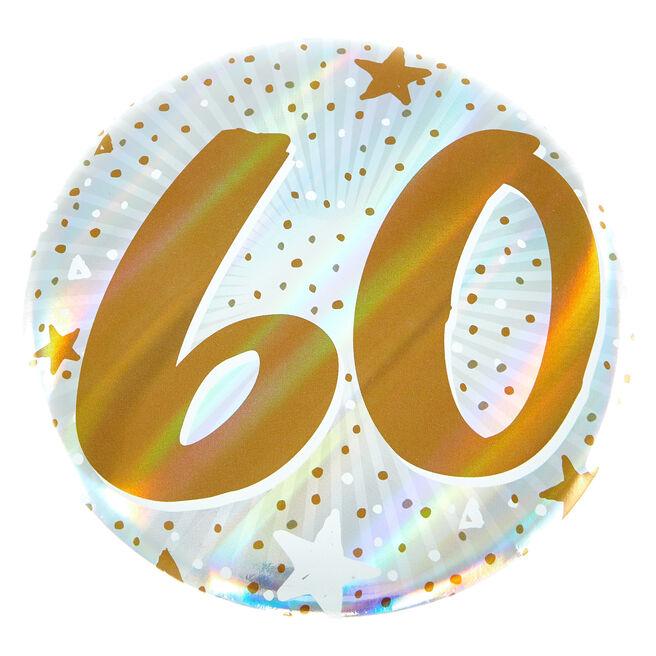 Giant 60th Birthday Badge