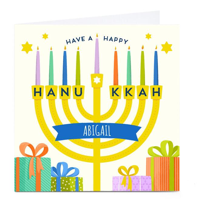Personalised Hannukkah Card - Menorah