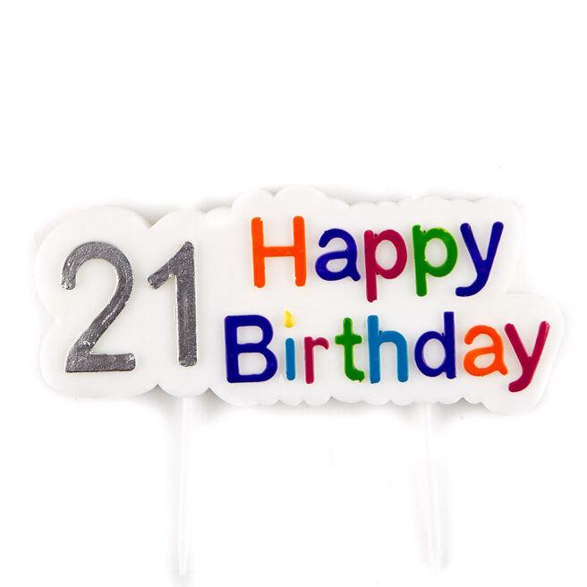Happy 21st Birthday Cake Candle