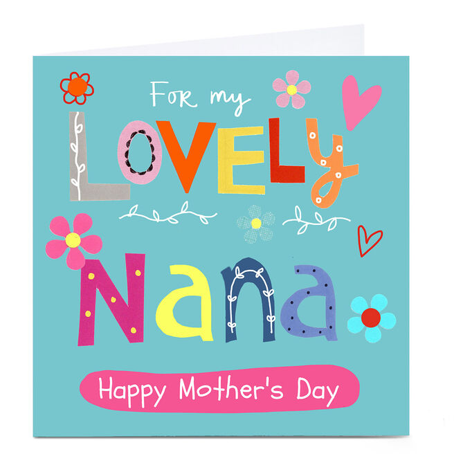 Personalised Lindsay Loves To Draw Card - Lovely Nana