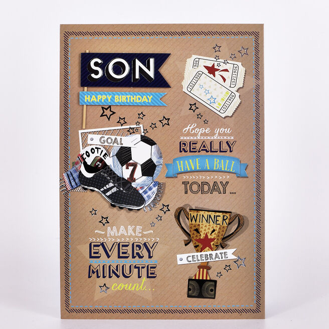 Signature Collection Birthday Card - Son Football
