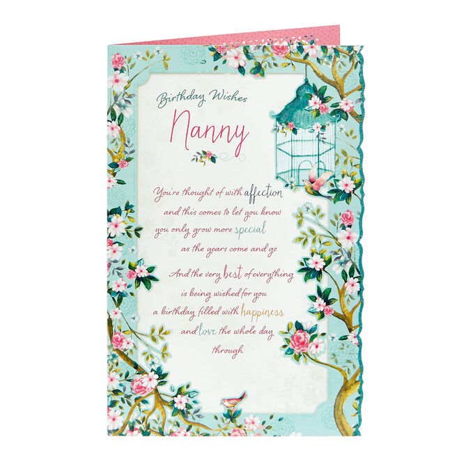 Birthday Card - Nanny Happiness & Love