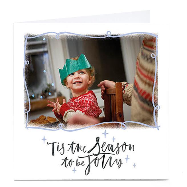 Photo Christmas Card - Tis The Season White