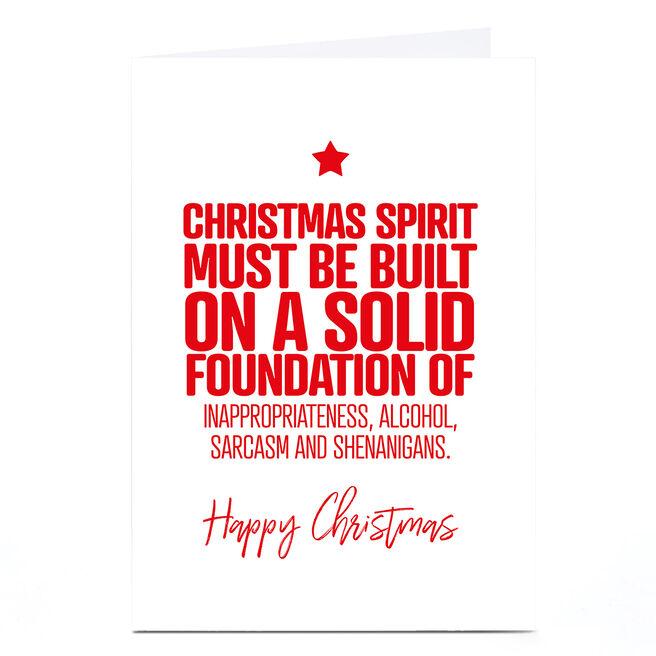 Personalised Punk Christmas Card - Christmas Spirit