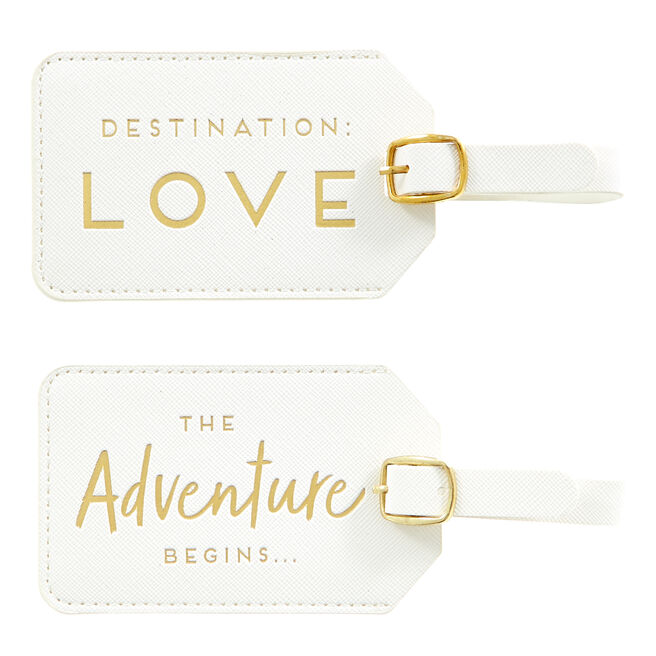 Two Hearts Luggage Tags