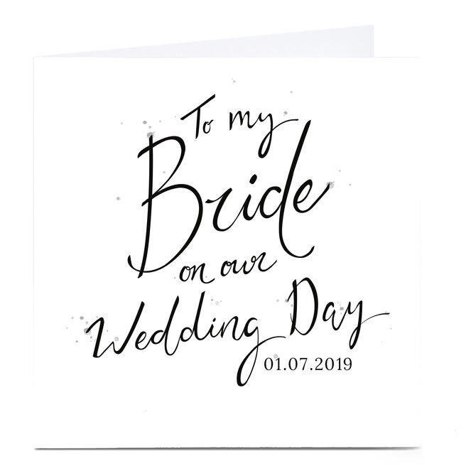 Personalised Wedding Card - My Bride
