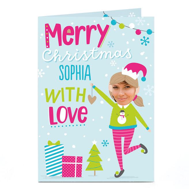 Photo Christmas Card - Girl Elf