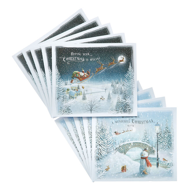 Box of 12 Deluxe Night's Sky Charity Christmas Cards - 2 Designs