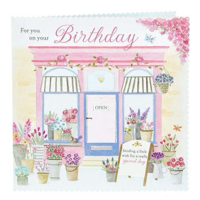 Platinum Collection Birthday Card - Sending A Little Wish