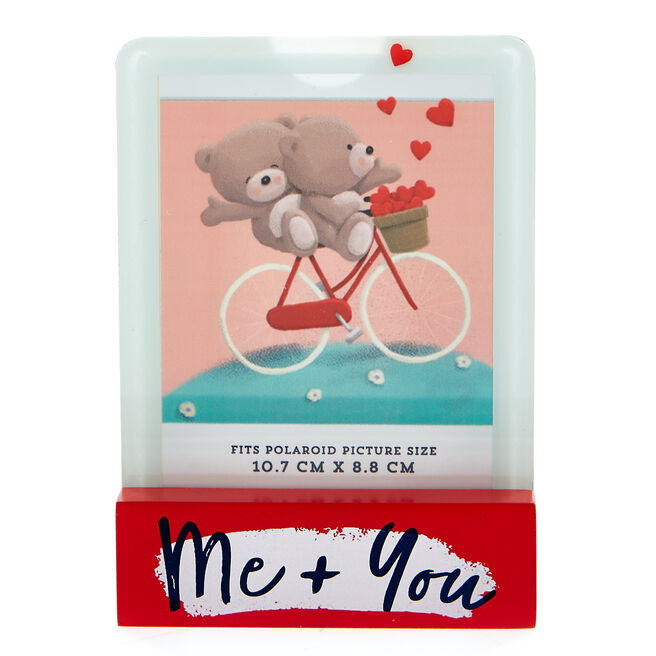 Hugs Bear Me & You Polaroid Photo Frame