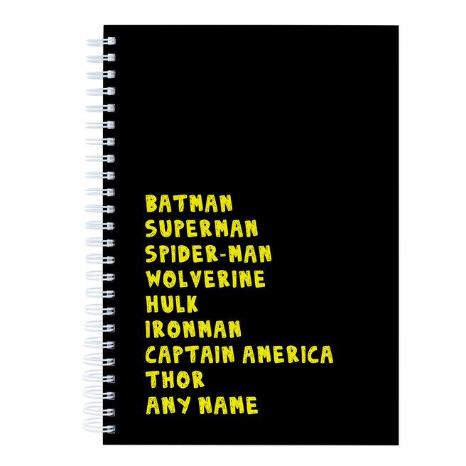 Personalised Notebook - Comic Heroes