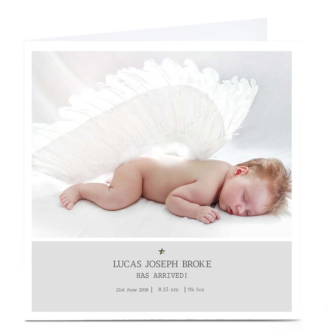 Photo New Baby Card - Has Arrived