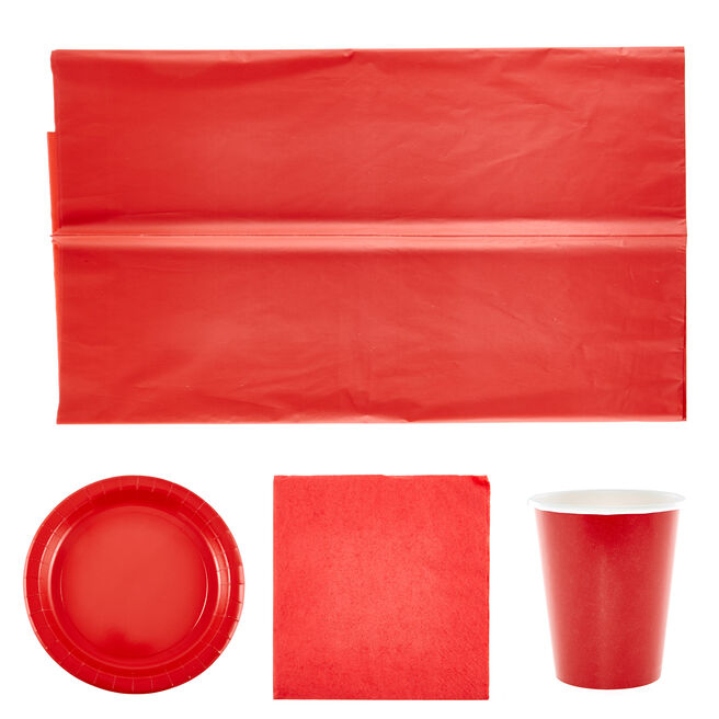 Red Party Tableware Bundle - 37 pieces