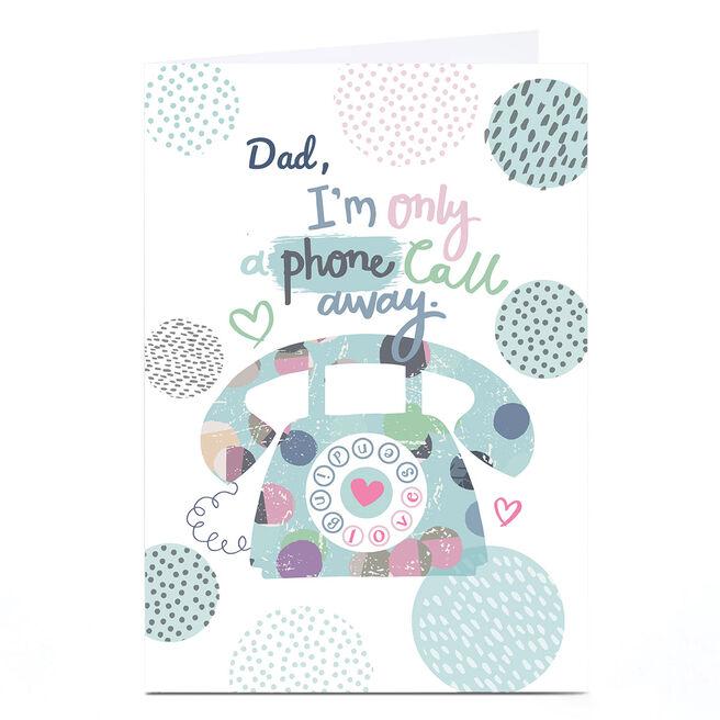Personalised Bev Hopwood Card - A Phone Call Away, Blue
