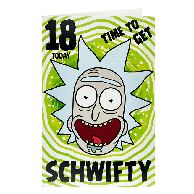 Rick & Morty 18th Birthday Card