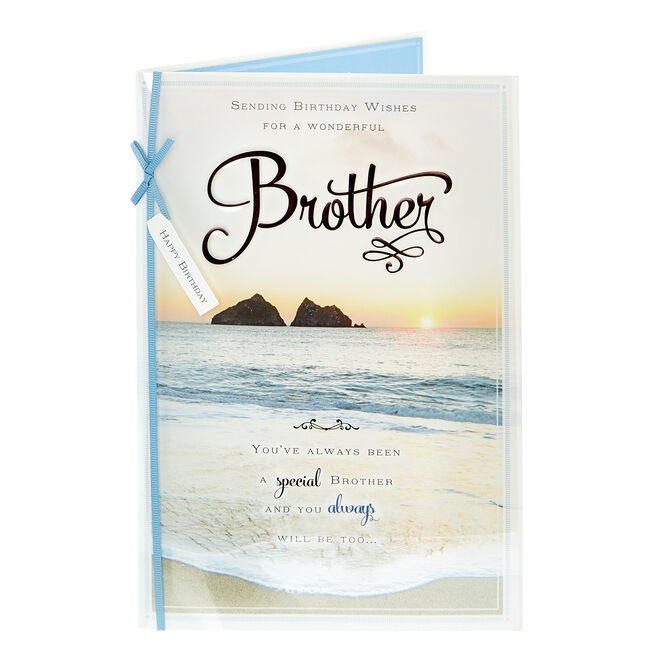 Birthday Card - For A Wonderful Brother