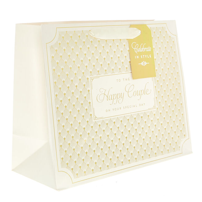 Medium Landscape Gift Bag - To The Happy Couple