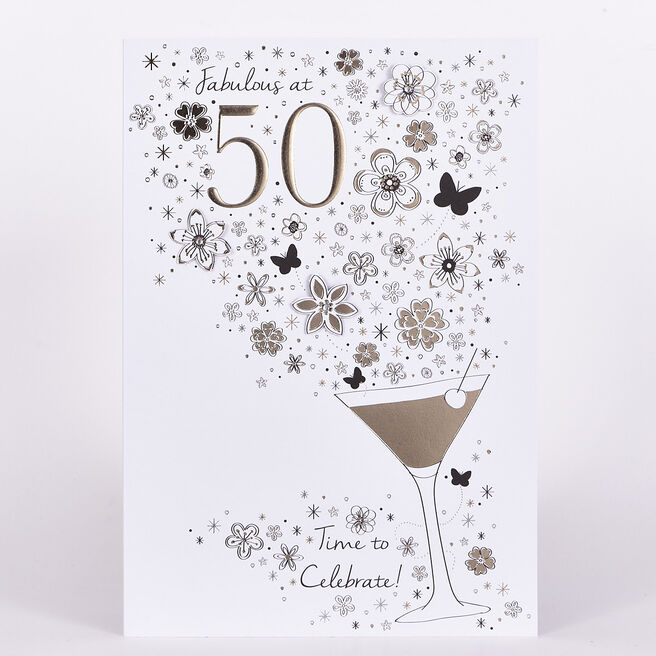 Signature Collection Birthday Card - Fabulous At 50