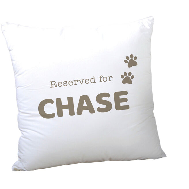 Personalised Pet Cushion - Reserved For Pet