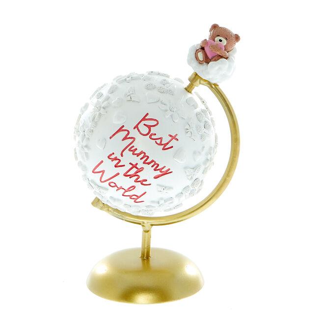 Best Mummy In The World Hugs Bear Globe Ornament