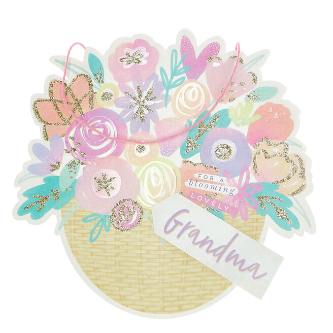 Exquisite Collection Mother's Day Card - Blooming Lovely Grandma
