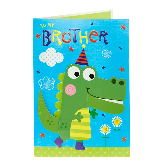 Interactive Birthday Card - To My Brother