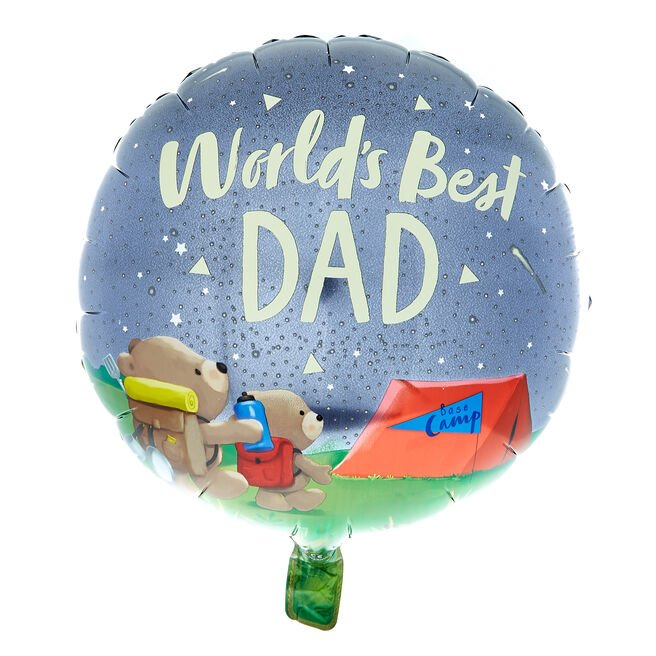 Hugs World's Best Dad 18-Inch Foil Helium Balloon
