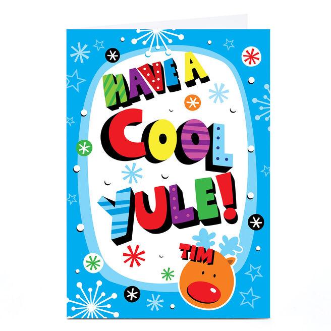 Personalised Christmas Card - Cool Yule