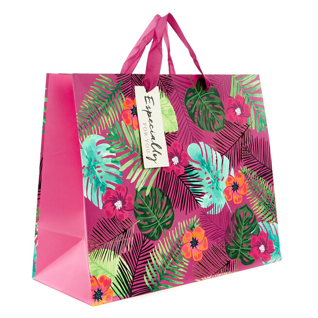 Medium Tropical Purple & Gold Gift Bag - Especially For You